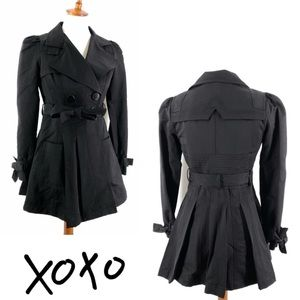 NWT XOXO Womens Dede Trench Coat Belted